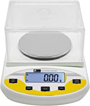 CGOLDENWALL High Precision Lab Digital Scale Analytical Electronic Balance Laboratory Lab Scale Precision Jewelry Scales Kitchen Precision Weighing Electronic Scales 0.01g Calibrated (500g, 0.01g)
