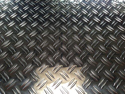 Aluminio–Chapa estriada (1,5/2,0mm Duett 1000x 250mm