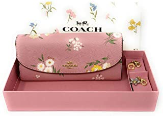 Coach Tossed Daisy Print Boxed Wallet Set with Charms - #F73015