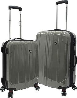 Traveler's Choice Sedona 100% Polycarbonate Hardside Expandable 8-Wheeled Spinner Travel Suitcase Luggage w/TSA Lock, Gre...