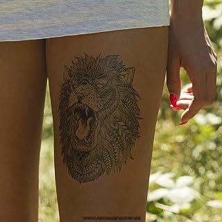 1 x Löwe Tattoo - Körpertattoo - Lion Tattoo - Einmal Tatt