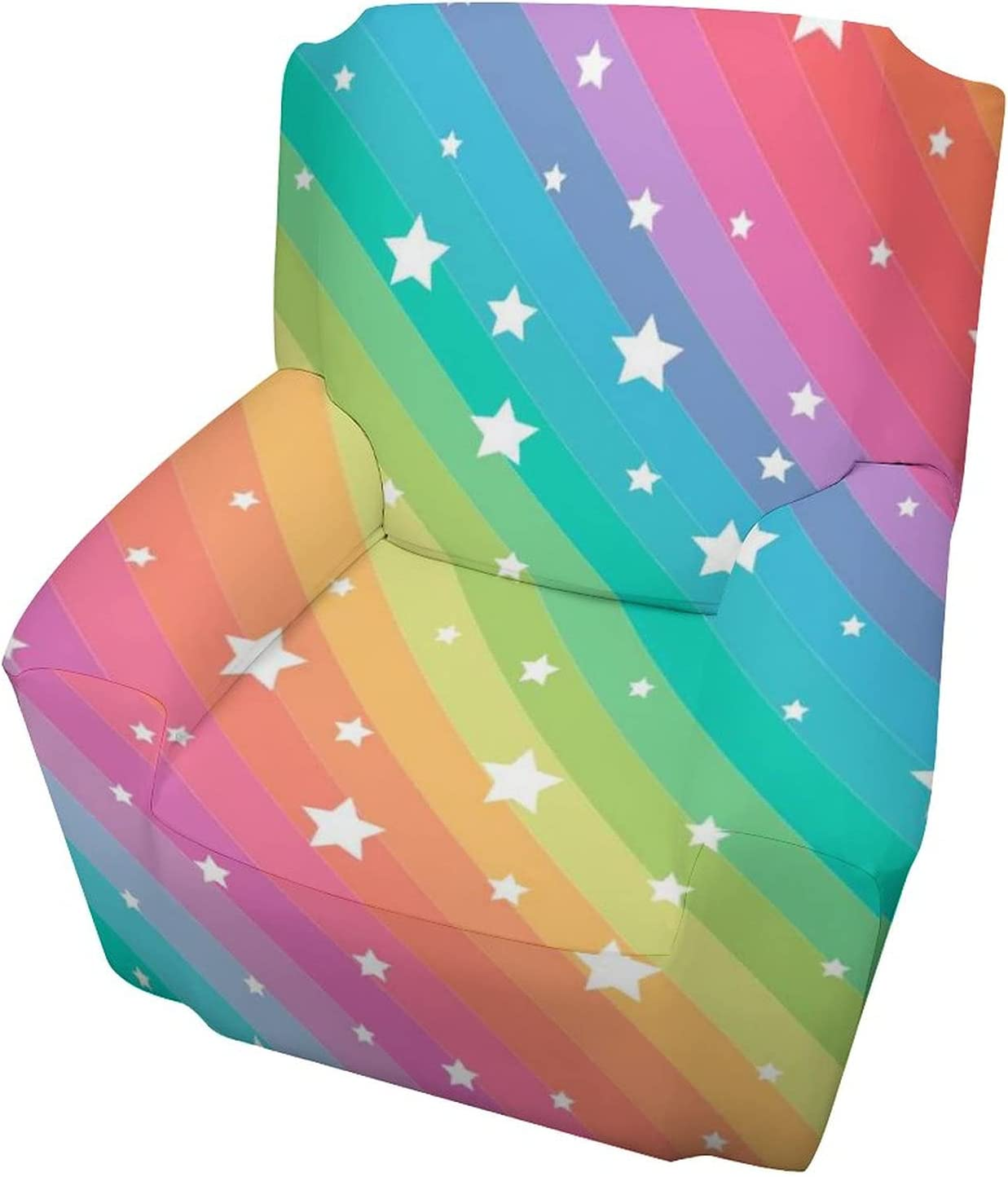 Colorful Rainbow Max 43% OFF Stars Sofa Cover Chair Covers half Armchair Stretch