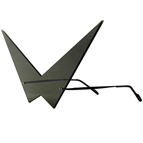 436bccf14fec Anime Inspired Futuristic Comic Costume Cosplay Large Pointy Triangle Black  Sunglasses