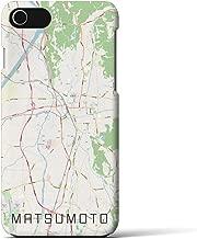 【松本】地図柄iPhoneケース(バックカバータイプ・ナチュラル)iPhone 8 / 7 / 6s / 6 用 <全国300以上の品揃え> シンプル おしゃれ 大人 個性的 耐衝撃素材のiPhoneカバー(アイフォンケース アイフォンカバー スマホケース スマホカバー)