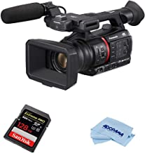Panasonic AG-CX350 4K Camcorder - Bundle with 128GB UHS-II Class 10 U3 SDXC Memory Card, Microfiber Cloth