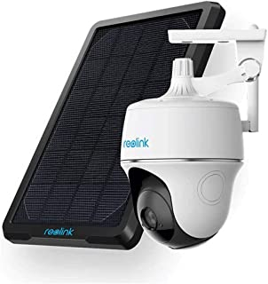 Reolink Wireless Pan Tilt Solar Powered WiFi Security Camera System w/Rechargeable Battery Outdoor Home Surveillance, 2-Wa...