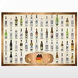 trendaffe  50 Biere aus Deutschland Scratch Poster (Classic