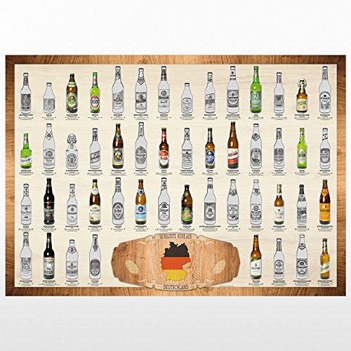 trendaffe  50 Biere aus Deutschland Scratch Poster (Classic Edition) Rubbelkarte Rubbel Karte