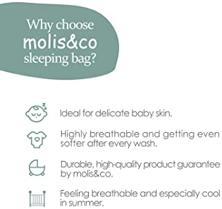 Wearable Blanket Sack for Baby, Premium Cotton Breathable Muslin Sleeping Bag Unisex for Toddlers, 18-36 Months, 0.5 ...