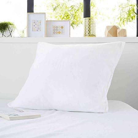 Sweetnight - Protège Oreiller 65x65 cm   100% Coton   Anti-rétrécissement   Molleton Absorbant   Silencieux et Respirant   Lavable à 90°C   Fermeture à Rabat