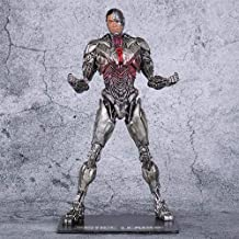 DMCMX Cyborg Handmade Model Movie Character Victor Stone Super Hero American Football Player Biochemical Man New 52 Static Desktop Model PVC Material 18cm Chassis Decoration