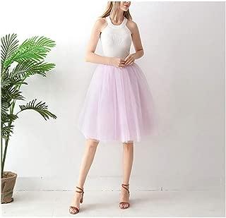 7 Layered Tulle Skirts Womens High Waist Ball Gown Underskirt Mesh Skirt
