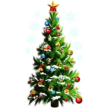 Christmas Tree Wall Stickers Vinyl Decal Decoration