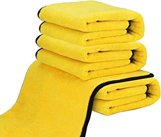 Dry Towel for Cars, (4 Pack) Microfiber Extra Thick Cleaning Cloths,Car Drying Towel Scratch-Free Car Detailing Buffing Po...
