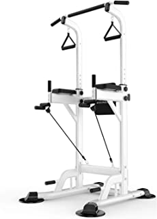 Dip Station Chin Up Bar Multi-Function Power Tower Adjustable Height Home Fitness Workout Station Dip Stands Pull up Bar P...