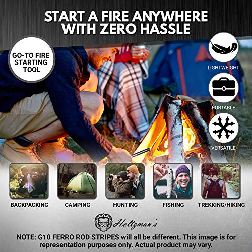 Premium Ferro Rod Fire Starter Kit
