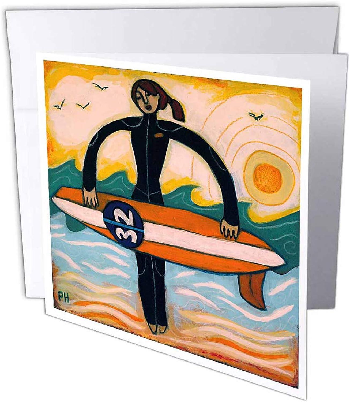 3dRosa gc_21214_1 Grußkarte Surfer Girl Outdoors Outdoors Outdoors Recreation Woman Girl Surf Ocean , 15,2 x 15,2 cm, 6 Stück B07BJCSKPW | Zuverlässige Leistung  | Züchtungen Eingeführt Werden Eine Nach Der Anderen  | Sale Düsseldorf  7a5a05