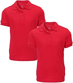 Girl's Uniform Polo 2 Pack Short Sleeve Interlock