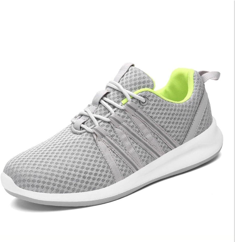XUE Neue Herren Schuhe Tüll Frühling Sommer Herbst, leichte Sohlen Sportschuhe, Comfort Wanderschuhe (Farbe   EIN, Gre   43)