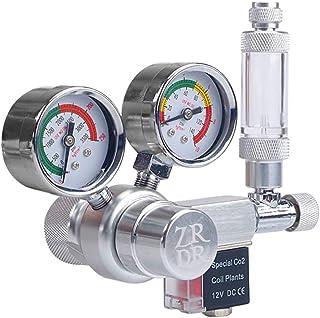 Sunbaca Tensão de saída de 12 V Aquário Regulador de CO2 Regulador de pressão de CO2 com solenóide Grande medidor de press...