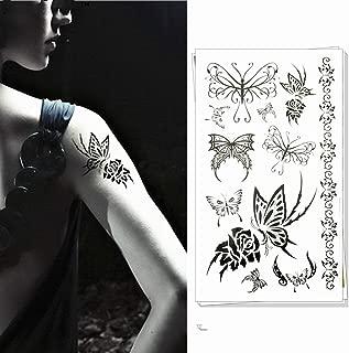 adgkitb 4 Piezas Coloridas Pegatinas temporales de Tatuaje de ...