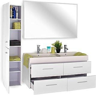 Amazon.fr : meuble salle de bains double vasque 120
