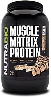 NutraBio Muscle Matrix - Whey Protein Blend (Chocolate Peanut Butter Bliss, 2 Pounds)