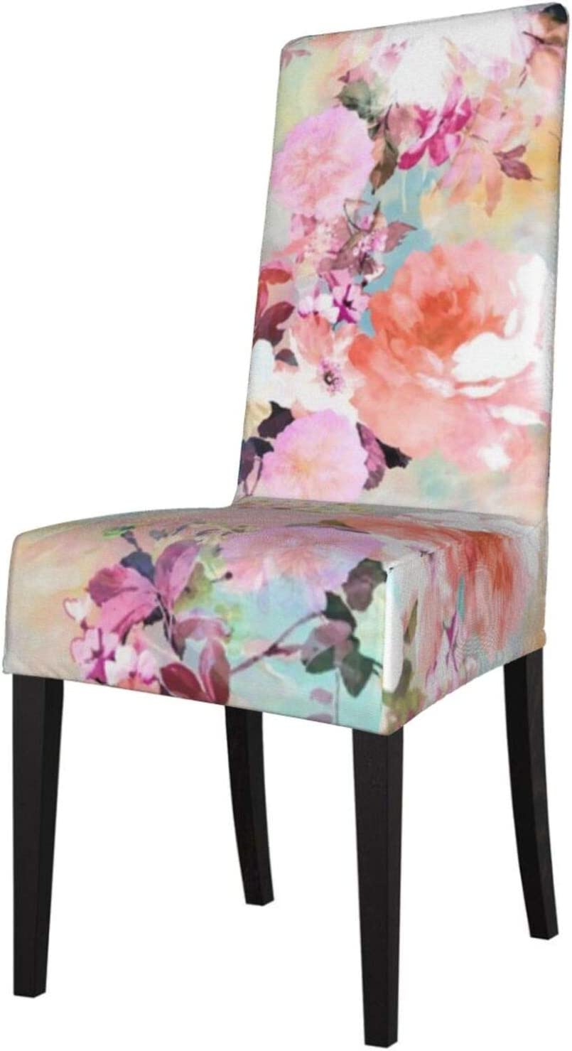 Max 77% OFF 2 Pack Washable Dining Chair Patt Topics on TV Pink Watercolor Flowers Covers