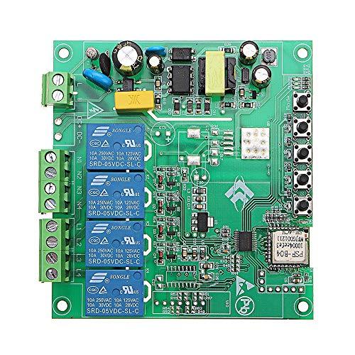 Generies Scheda relè 1Pcs CA 220V 10A di Controllo Accessori Auto Interruttore Punto di inoltro a Distanza 4 canali modulo WiFi Senza Guscio Modulo relè Bordo più Alto e Il Basso modulo Trigger