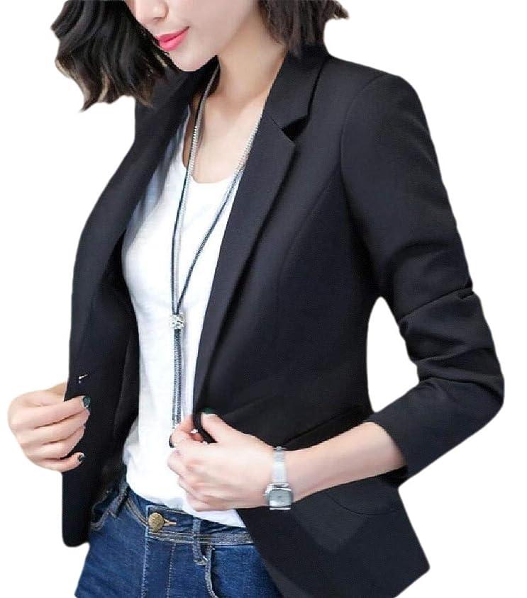 中国放映後ろ、背後、背面(部女性スリムフィットカジュアルオフィスワンボタン着用する作業スーツブレザージャケット