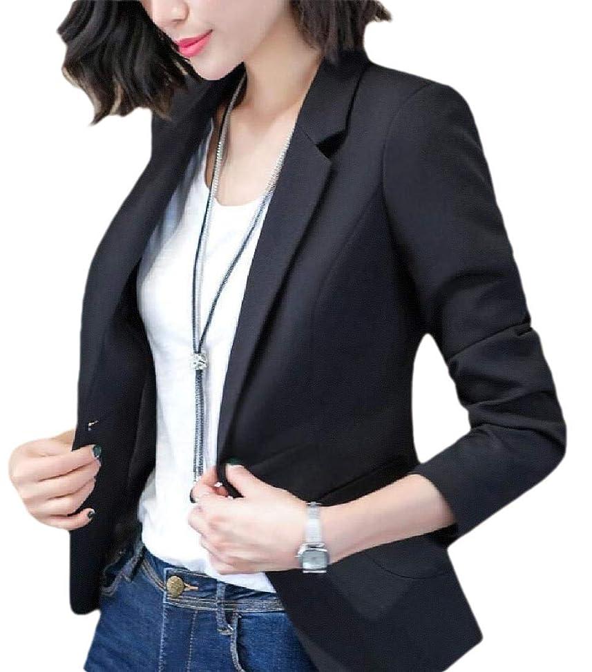 難しい処分した固執女性スリムフィットカジュアルオフィスワンボタン着用する作業スーツブレザージャケット