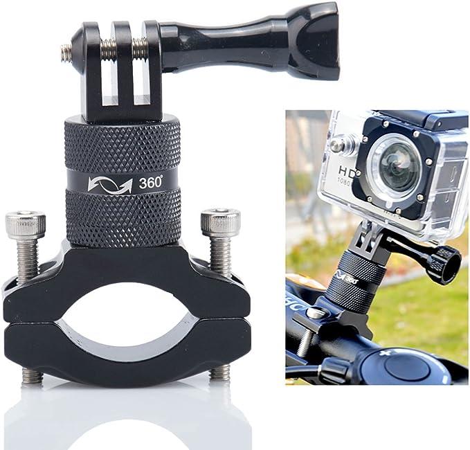 660 opinioni per Lammcou Supporto Bicicletta per Actioncam, Base di Montaggio in Alluminio per