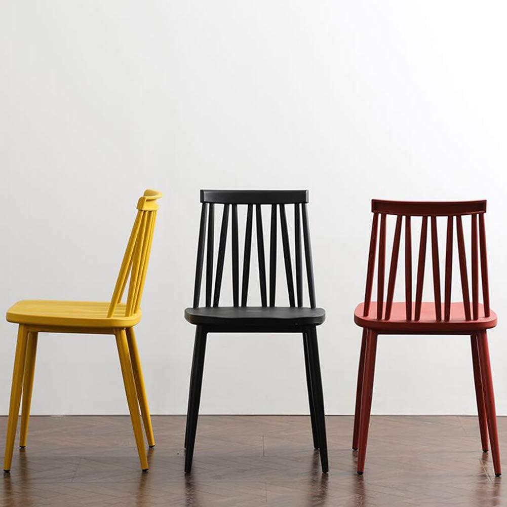 WYYY chaise de Bureau Chaise De Salle À Manger Jambes en Métal Multifonction Assemblée Plastique Antidérapant Durable Fort (Couleur : Bleu) Noir