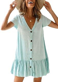 Bsubseach Mujer Vestido de Playa Verano Bordado Cubrir Bikin