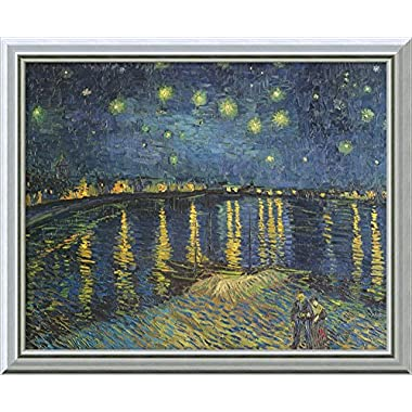 Canvas Art Framed 'Starry Night over the Rhone, 1888' by Vincent van Gogh