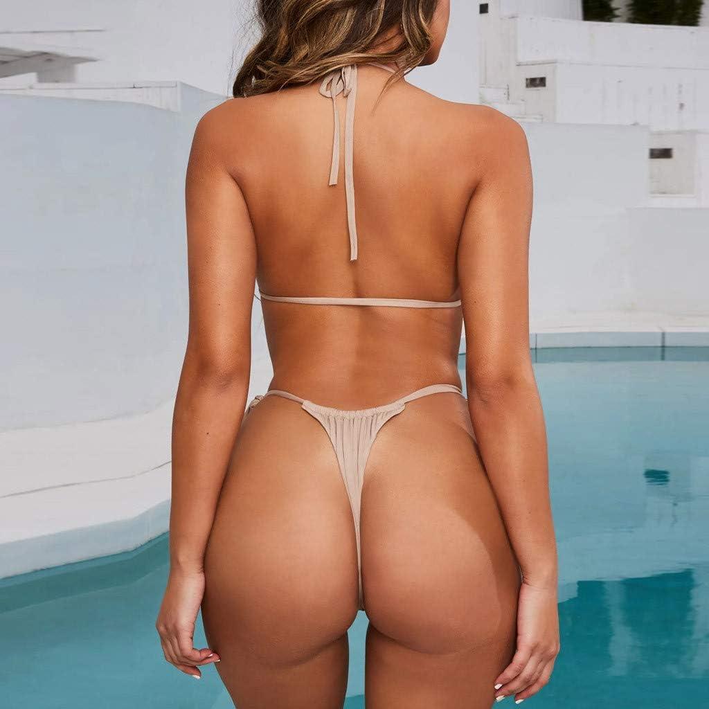 CRE87 Damen Mode Blumendruck Bikini Set Schwimmen Zweiteiler Badeanzug Strand Set Ethno Style Print Bikini /…