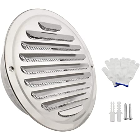 Bewox 4Inch Louvered Grille Cover Vent Hood Wall Air Vents with Built-in 4 Inch