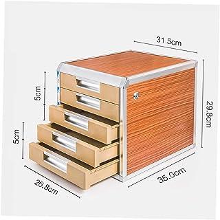 Armoire de bureau verrouillable Boîte de rangement pour classeurs Armoire de rangement 5e étage 31.5 * 35 * 29.8 (cm) alli...