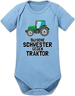 Shirtcity Tausche Schwester gegen Traktor Baby Strampler by