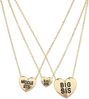 Lux Accessories Three Sisters Heart Charm 22