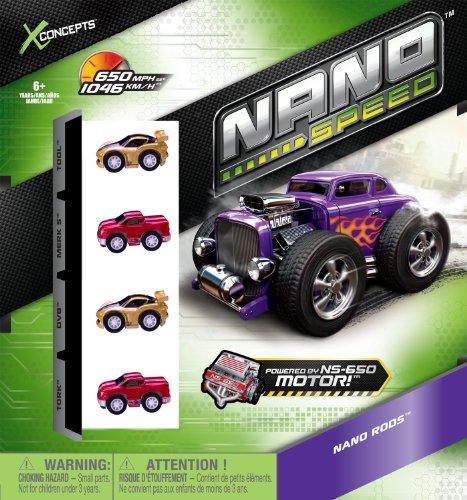 Nano Speed - 6019551 - Véhicule Miniature et Circuit - 4 Pk Cdu