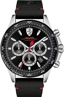 Scuderia Ferrari Homme Analogique Classique Quartz Montre avec bracelet en Cuir - 830389