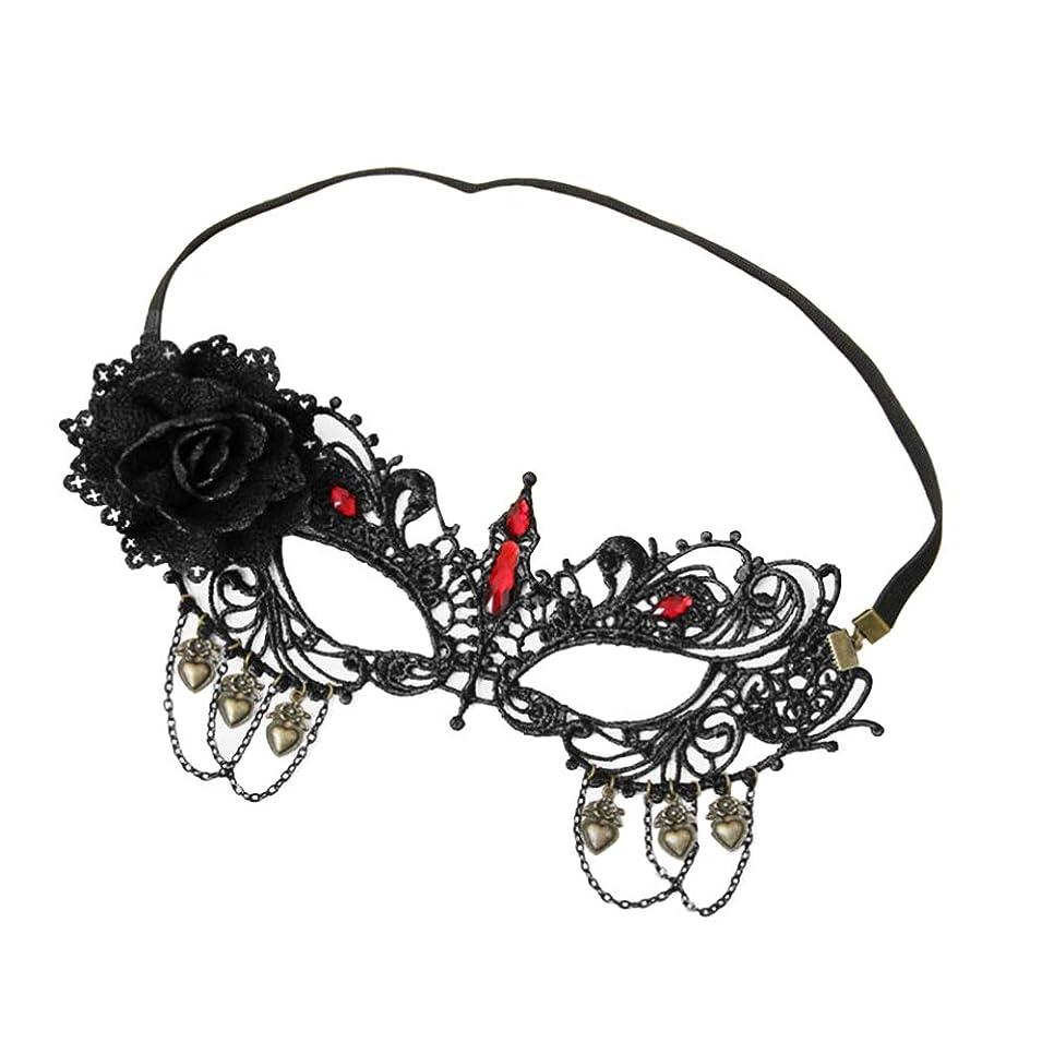 フィールドペルメル悩むSUPVOX ラインストーン付きレースハーフフェイスマスクマスカレードパーティー仮装衣装ハロウィンのための花の調節可能なカットアウト