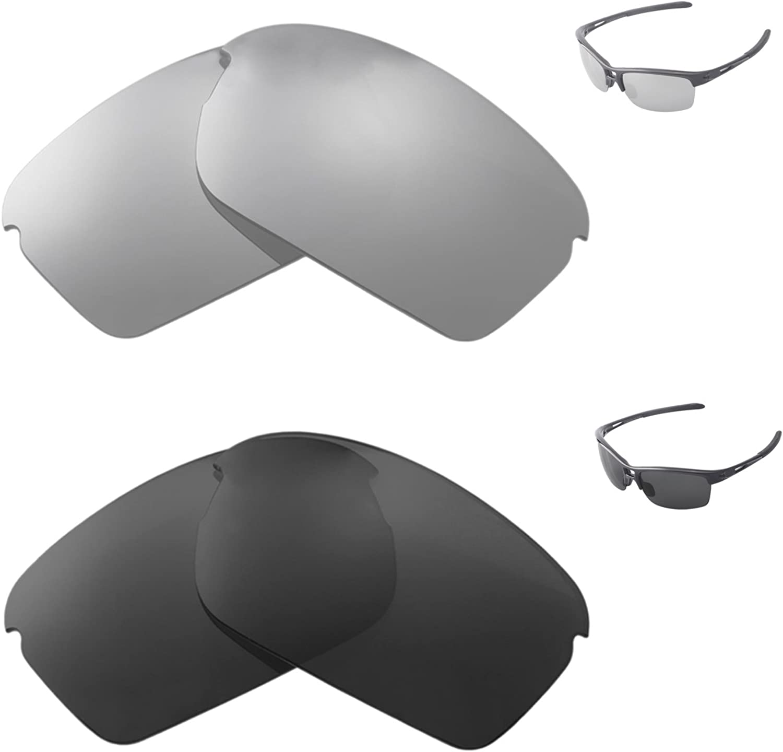 Walleva Polarized Titanium + Japan's largest assortment Black For San Antonio Mall Oakley Lenses Replacement