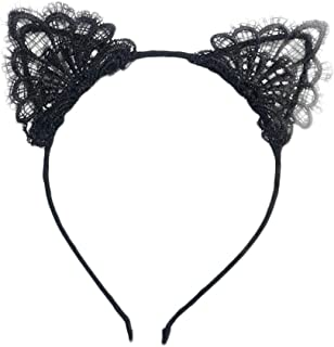 Sexy Cute Fun - Black Lace Cat Ears Headband (One Size fits Most)