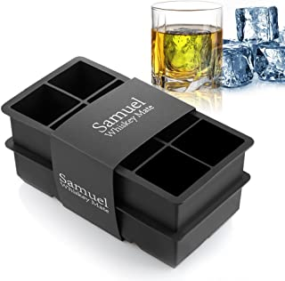 Samuelworld Ice Cube Tray Large Size Silicone Flexible 8 Cavity Ice Maker for Whiskey and..