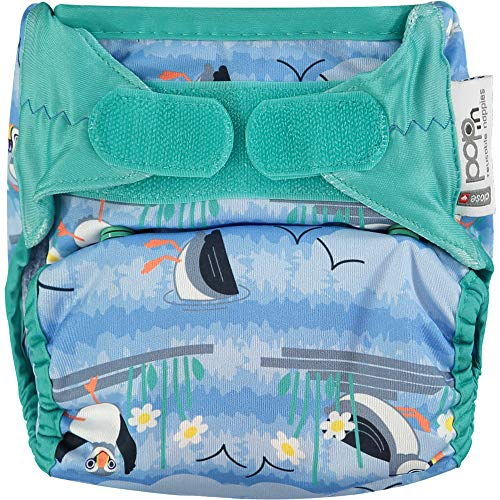 Close Pop-in Nappy Puffin Colour Bamboo Single Printed Cloth Nappies for Babies Eco-Friendly Reusable Cloth Nappies Birth to Potty Bio Laminate