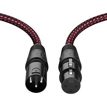XLR Cable 6ft, BIFALE Heavy Duty Nylon Braided XLR Microphone Cable Male to Female 3Pin Balanced Microphone Cable Compatible with Shure SM Microphone, Behringer, Speaker Systems - 2Pack