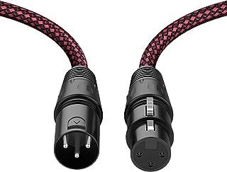 XLR Cable 10ft 2Pack, BIFALE Heavy Duty Nylon Braided XLR...