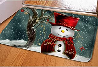 Micandle Christmas Doormat Flannel Non Slip Durable Washable Funny Indoor Outdoor Floor Mat with Rubber Backing for Kitchen Bedroom Bathroom Front Porch Decor Layered Patio